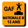 Résultats : NATIONALE B 13 ANS GAF