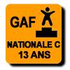 Résultats : NATIONALE C 13 ANS GAF