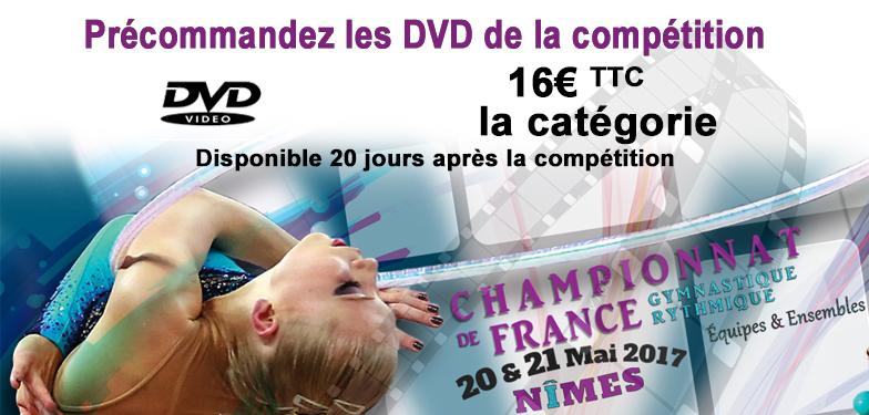 NÎMES 2017 - Offrez vous les vidéos des Championnats de France GR par Equipes et Ensembles NATIONALES !
