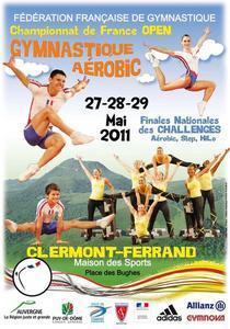 DVD CLERMONT 2011 : Championnats de France OPEN et les Finales Nationales des Challenges Aérobic, Hilo et Step.
