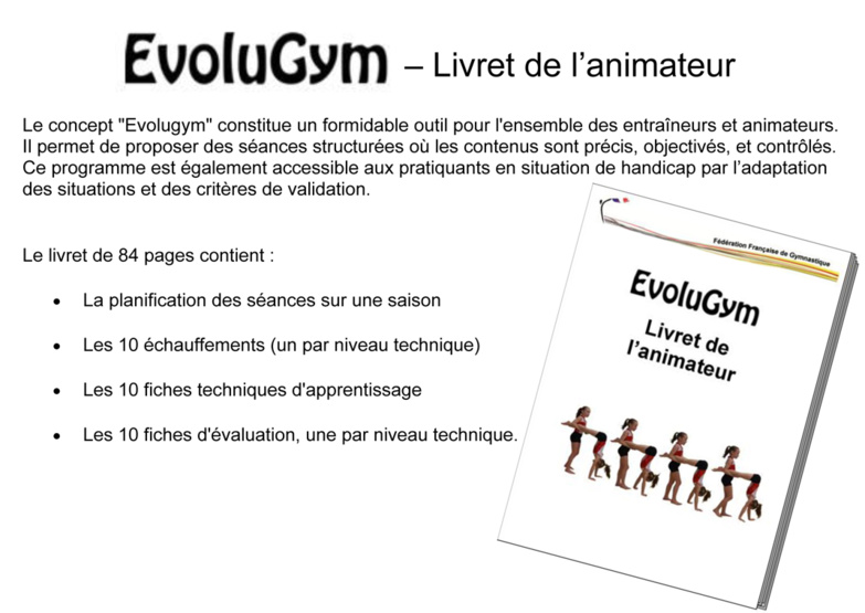 Evolugym - Livret de l'animateur