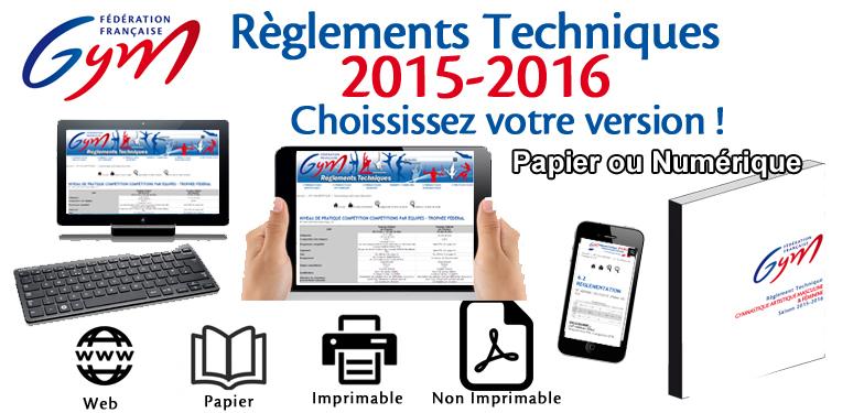 Règlements Techniques 2015/2016 - Fédération Française de Gymnastique