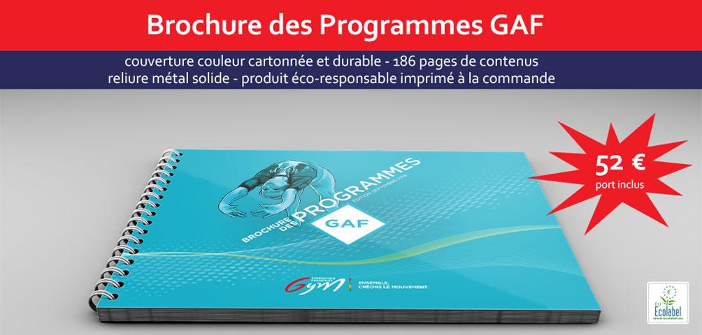 Brochure des Programmes Gymnastique Artistique Féminine - Fédération Française de Gymnastique (Edition Octobre 2014)
