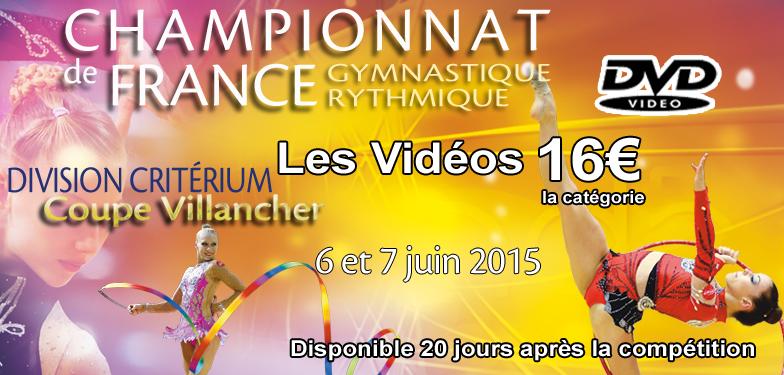 DVD VIDEO NIORT 2015  : Championnats de France DC et Coupe Villancher - Gymnastique Rythmique