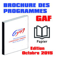 BROCHURE DES PROGRAMMES GAF  - Version Papier (Edition Octobre 2015)